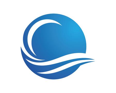 美波シンボルとテンプレートのロゴのアイコン  イラスト・ベクター素材