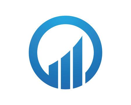 비즈니스 금융 전문 로고 템플릿 막대