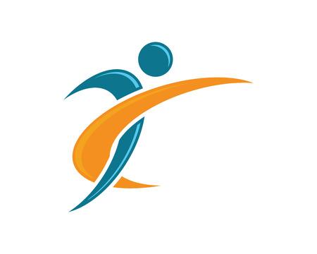 Fun people Healthy Life icon Logo template  イラスト・ベクター素材