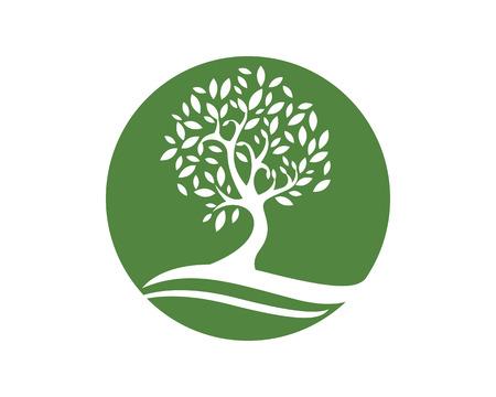 logo recyclage: Eco Arbre Logo Template