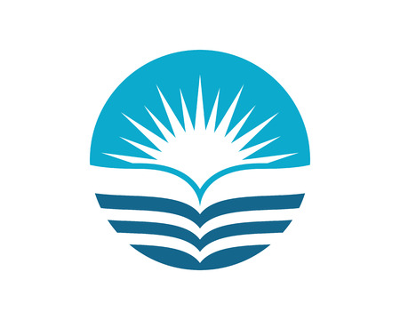 water flow: water wave symbol, isolated vector icon Illustration
