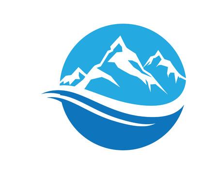 山のロゴ ビジネス テンプレート ベクトル