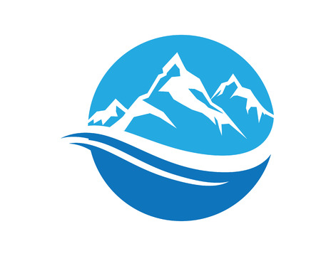 water logo: Mountain Logo Business Template Vector