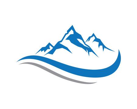 Berg-Logo-Geschäfts-Schablonen-Vektor Standard-Bild - 48744955