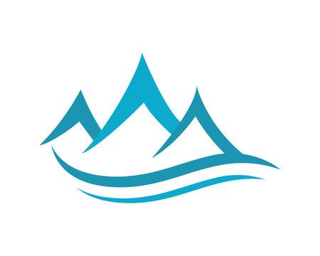 Berg-Logo-Geschäfts-Schablonen-Vektor Standard-Bild - 48744954
