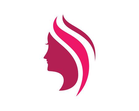 coiffure: Beauty woman Logo Template Illustration