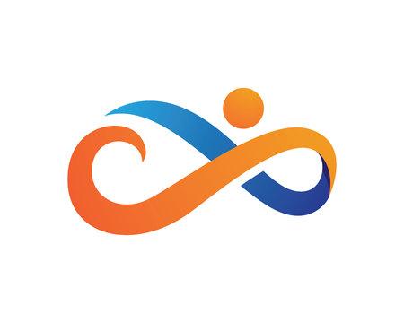 Infinity Logo Template  イラスト・ベクター素材