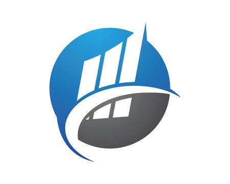Business Finance professional logo template Illustration