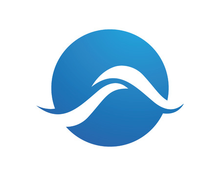 water wave: water wave symbol, isolated vector icon Illustration