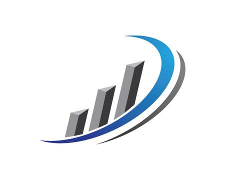 Business Finance professional logo template  イラスト・ベクター素材