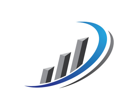Business Finance professional logo template Vettoriali