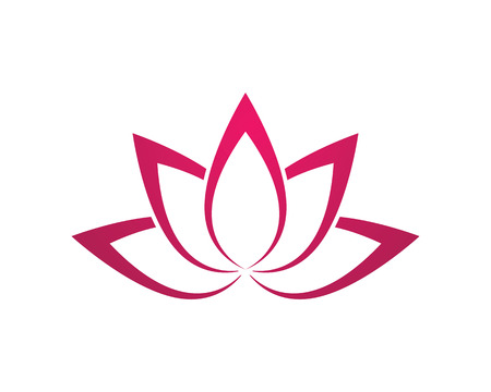 Stylized lotus flower icon vector icon Illustration