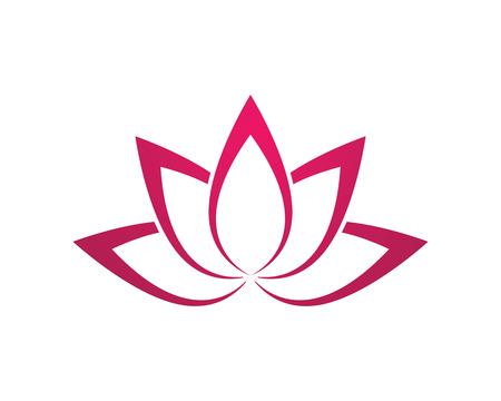 Stylized lotus flower icon vector icon Illustration