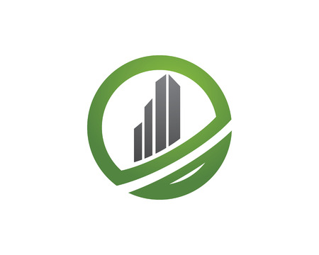 corporate building: Vector concept for accounting or real estate company Illustration