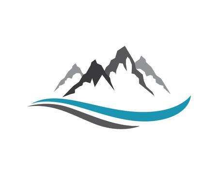Plantilla Montañas Logo Foto de archivo - 49824201