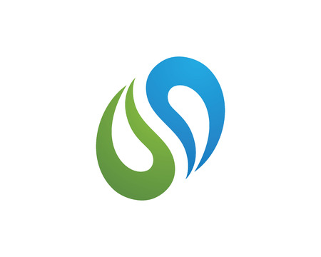 Water Wave Icon Template Logo