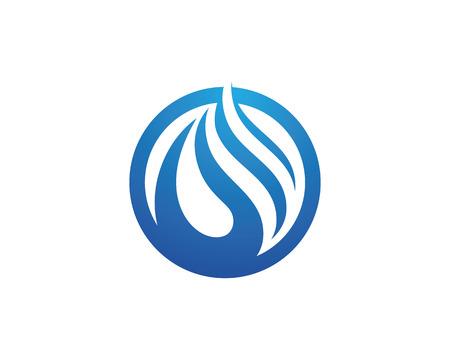 Water Wave Icon Template Logo Logo