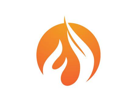 Fire flames icon Stock Illustratie