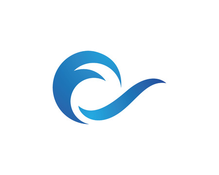 abstract logos: Water Wave Icon Logo Template