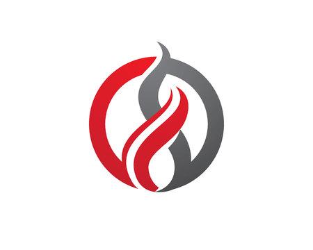 Fire flames Logo Stock Illustratie