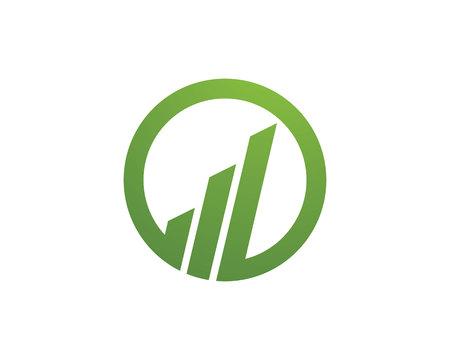 growth chart: Business Finance Logo