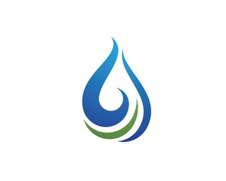 波水液滴要素アイコン ビジネスのロゴ
