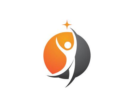 Healthy Life Logo Template Stok Fotoğraf - 53174708