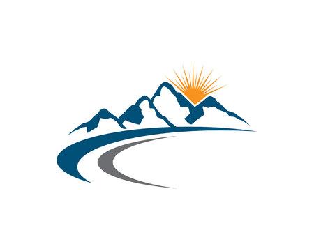Mountains Logo Template Logo