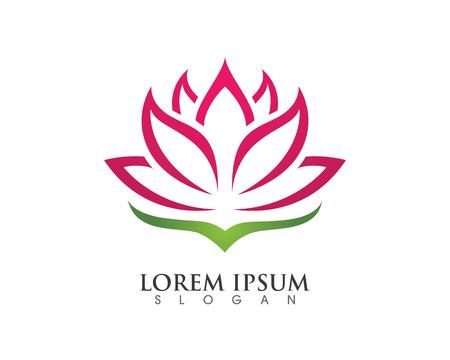 Stylized lotus flower icon Stock Illustratie