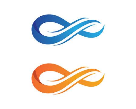 signo infinito: Modelo de la insignia del infinito