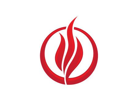 flame logo: fire flame Logo Illustration