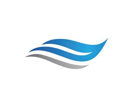 wave tourist: Water wave Logo Template Illustration
