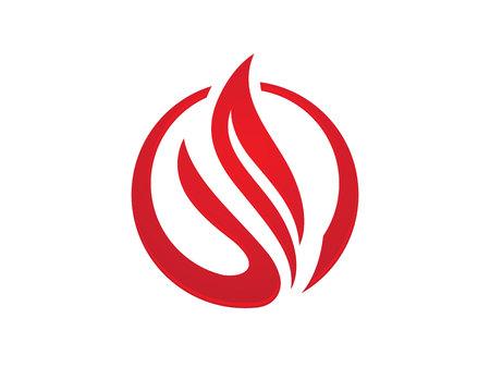 flame logo: Fire flame Logo