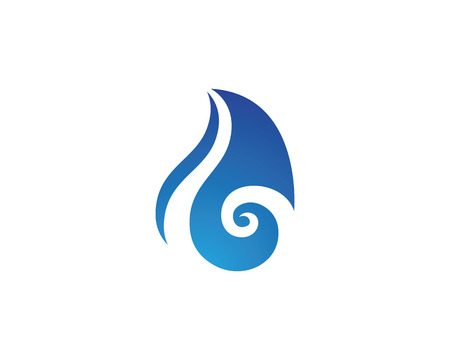 water wave: wave water droplet element icons business Illustration