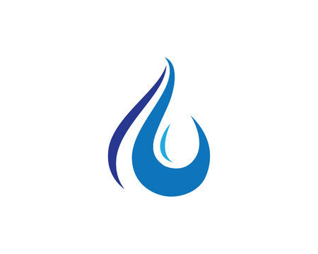 water wave: wave water droplet element icons business logo