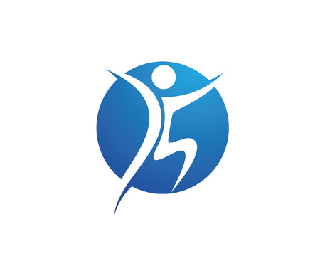 Fun people Healthy Life icon Logo template Ilustracja