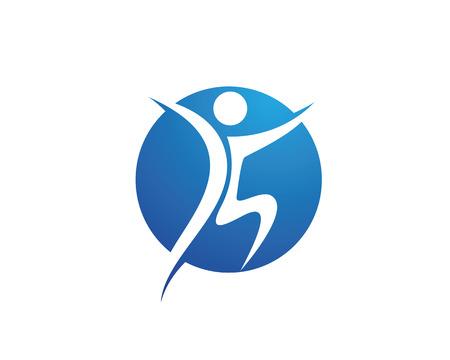 Gente de la diversión Vida Saludable plantilla icono Logo