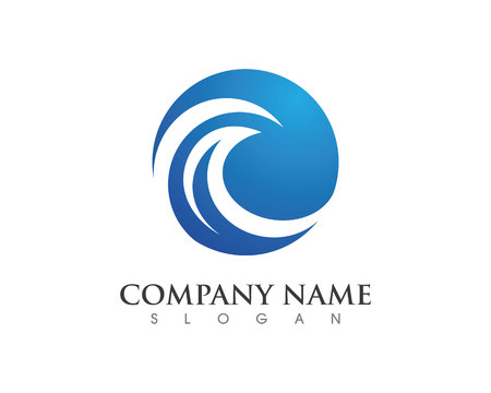 Water wave Logo Template Vectores