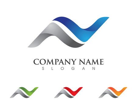 N letter logo Template Logó