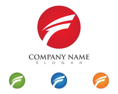 Plantilla de logotipo de la letra F