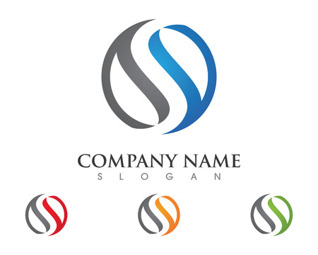 S letter logo Template Vettoriali