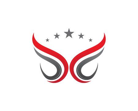 Plantilla Logo V Ala Vectores