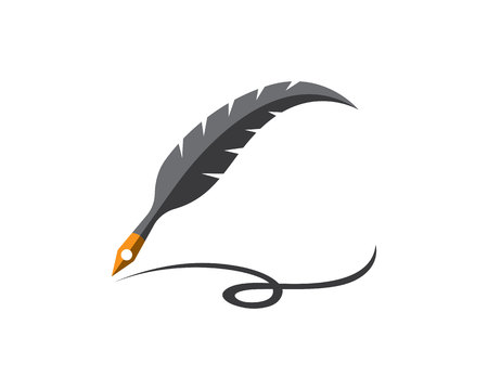 scholastic: Feather  Vector Illustration
