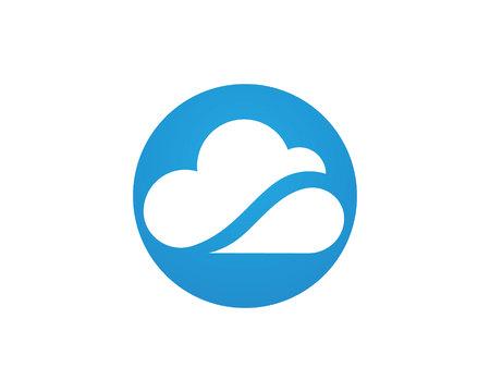 cloud technology: cloud technology vector template design
