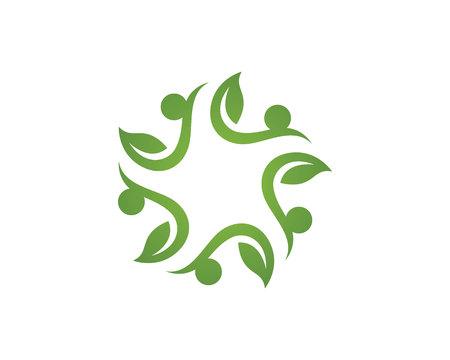Eco Arbre Logo Template Banque d'images - 59656398