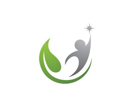 Eco Arbre Logo Template Banque d'images - 59656409