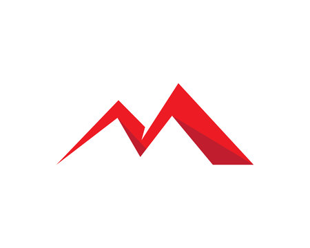 M Letter Mountains Logo Template