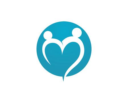 heart hand: Community Care Logo Illustration