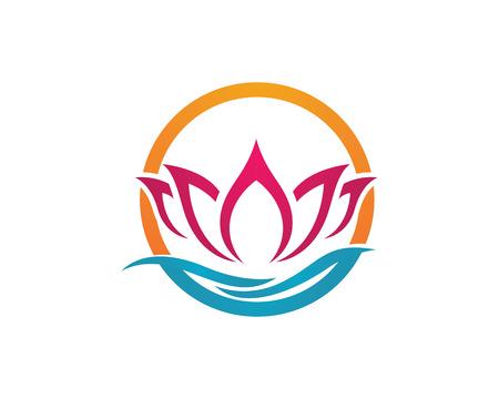 Bellezza Lotus Logo Template Archivio Fotografico - 60845001