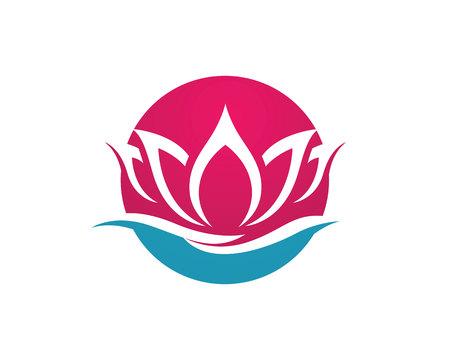 woman in love: Beauty Lotus Logo Template